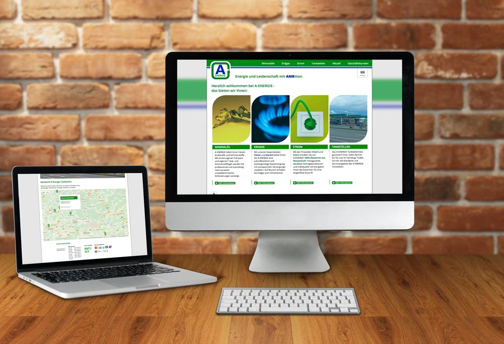 Internetseite A-Energie