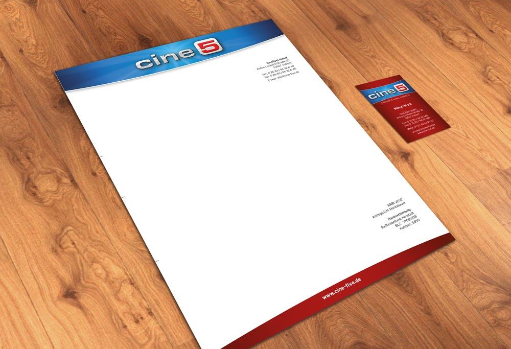 Geschäftsausstattung cine5