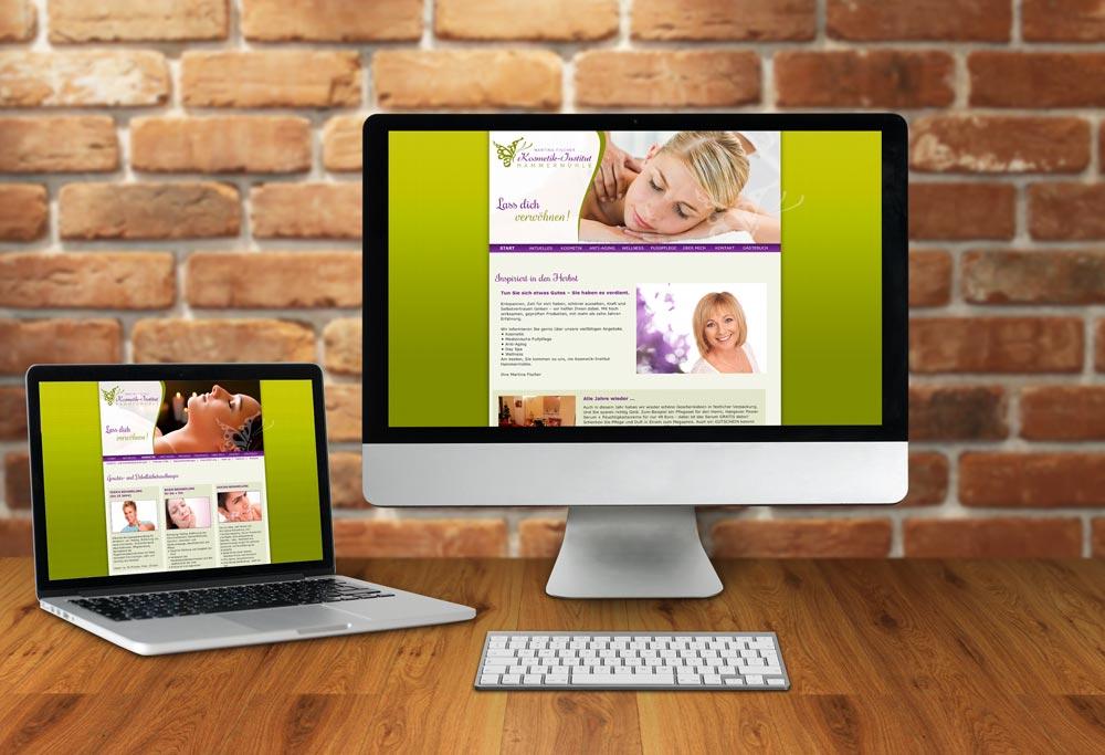 Internetseite Kosmetikinstitut Hammermühle