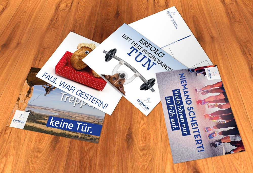Motivations-Postkarten OPTIMUM
