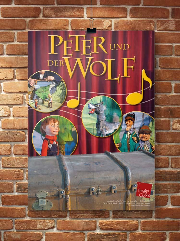 Plakat Peter und der Wolf