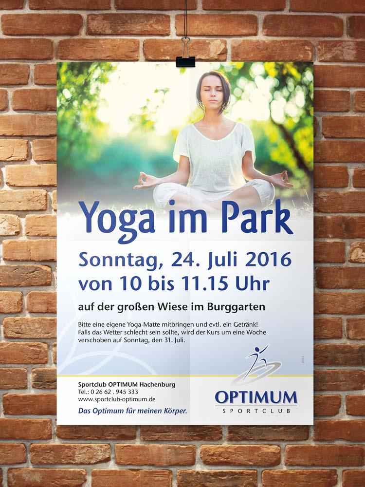Plakat Yoga im Park