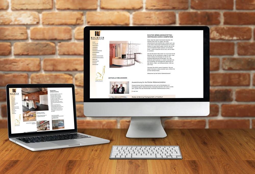 Internetseite Richter Möbelwerkstätten