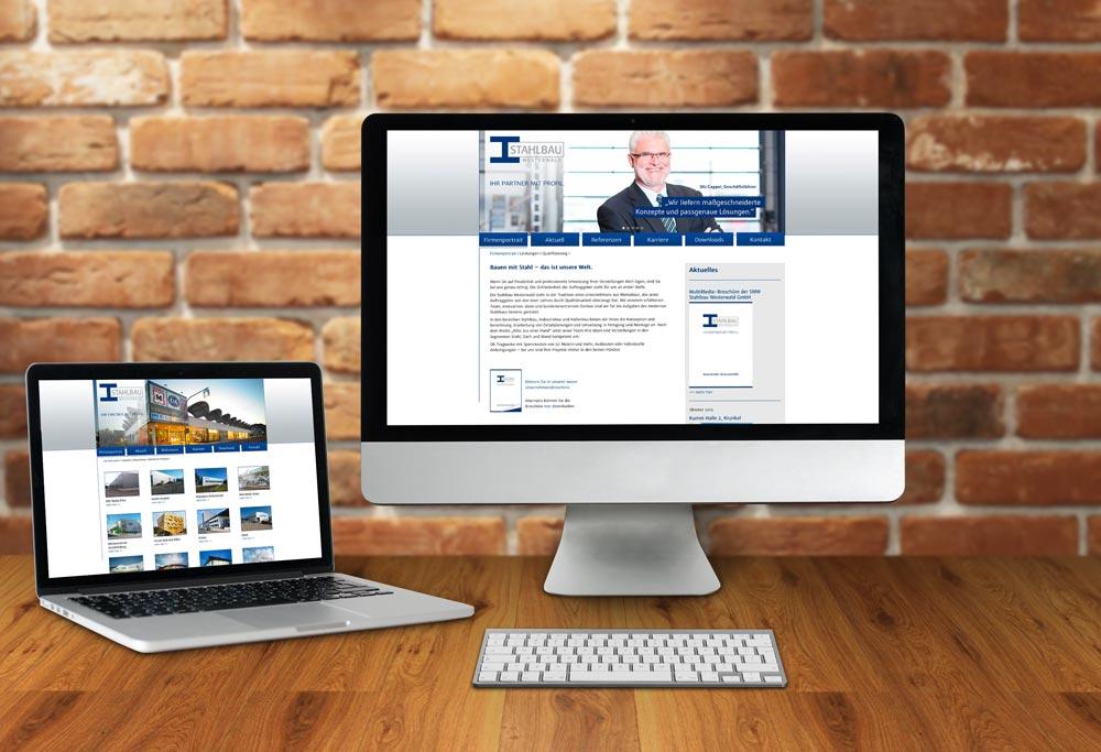 Internetseite Stahlbau Westerwald