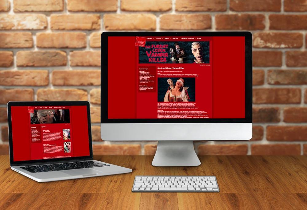 Internetseite Theater con cuore
