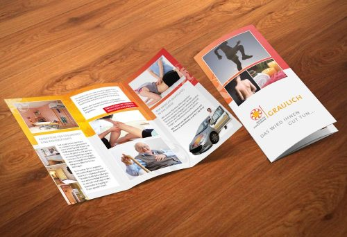 Wickelfalzflyer Graulich Physiotherapie