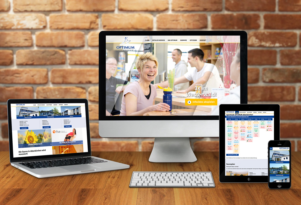 Internetseite Sportclub OPTIMUM