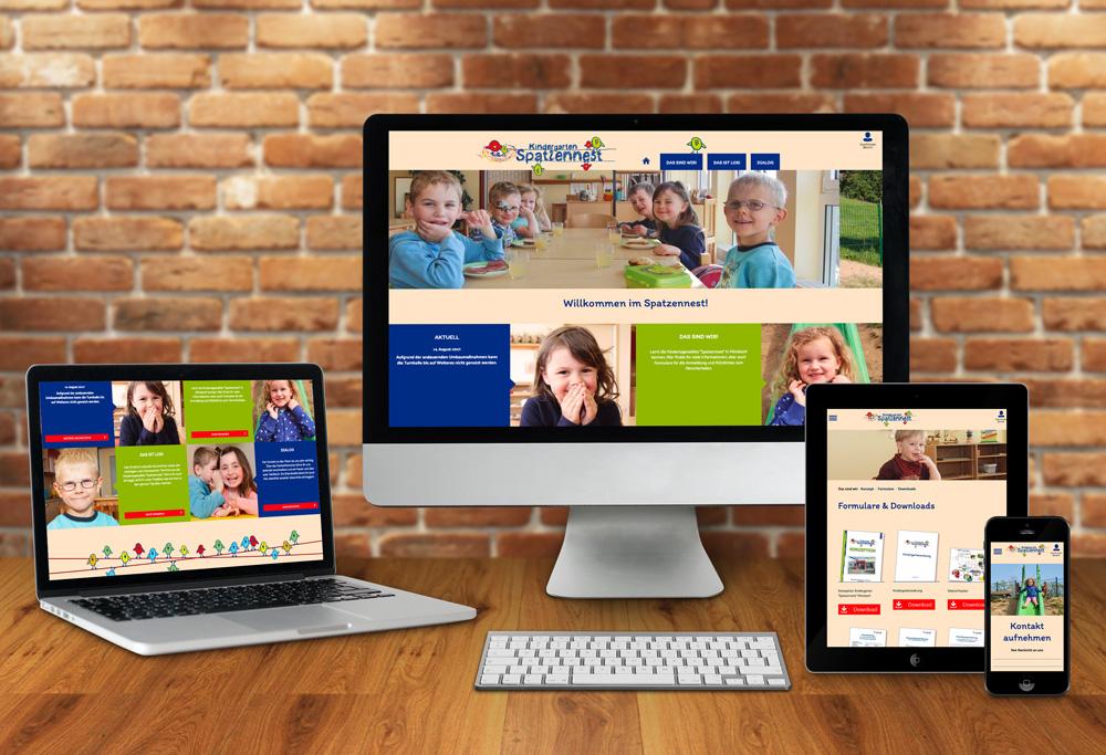 Internetseite Spatzennest Mörsbach